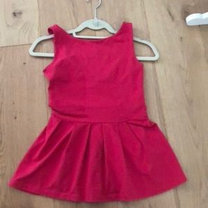 Susana Monaco Peplum Top Hot Pink Small